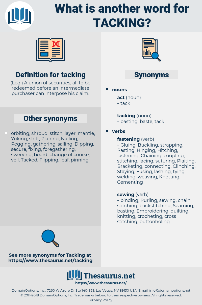 tacking, synonym tacking, another word for tacking, words like tacking, thesaurus tacking