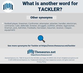 tackler, synonym tackler, another word for tackler, words like tackler, thesaurus tackler
