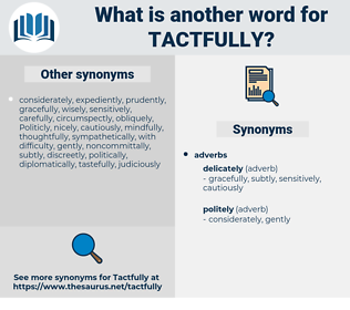 tactfully, synonym tactfully, another word for tactfully, words like tactfully, thesaurus tactfully