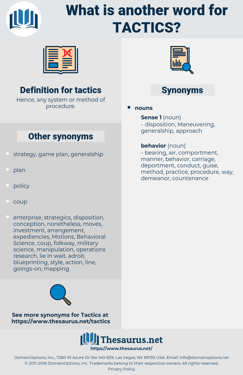 Tactics Synonym Another Word For Words Like Thesaurus