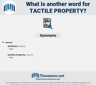 tactile property, synonym tactile property, another word for tactile property, words like tactile property, thesaurus tactile property
