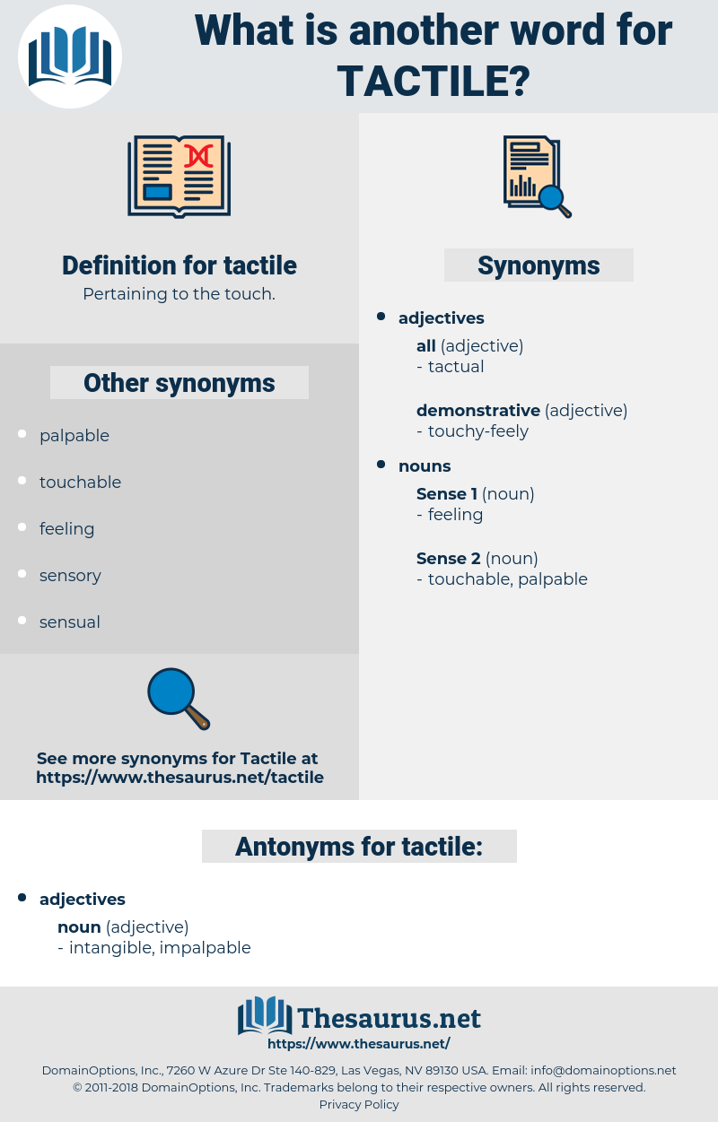 tactile, synonym tactile, another word for tactile, words like tactile, thesaurus tactile