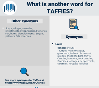 taffies, synonym taffies, another word for taffies, words like taffies, thesaurus taffies