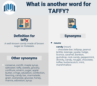 taffy, synonym taffy, another word for taffy, words like taffy, thesaurus taffy