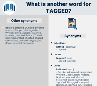 tagged, synonym tagged, another word for tagged, words like tagged, thesaurus tagged