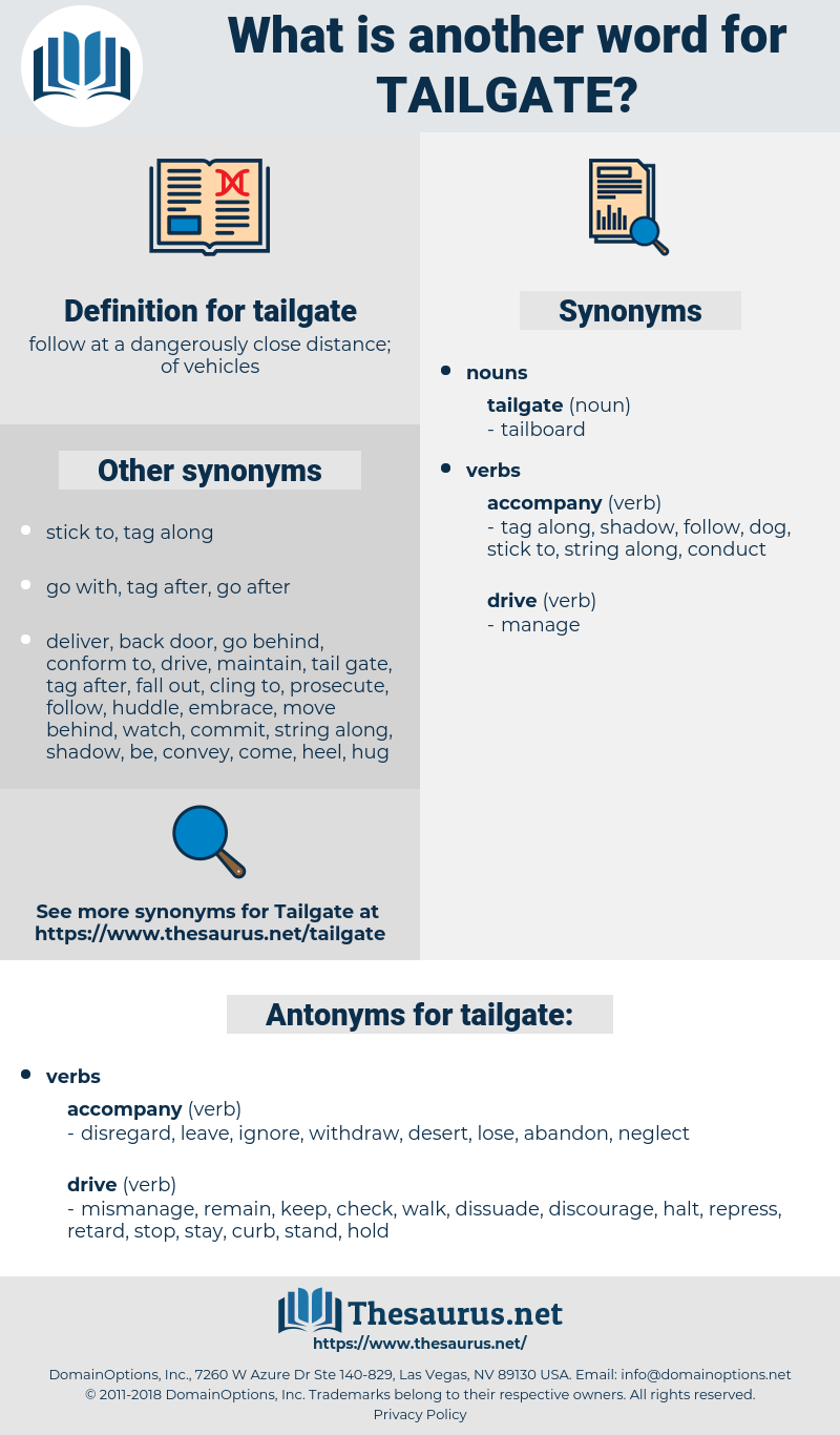 tailgate, synonym tailgate, another word for tailgate, words like tailgate, thesaurus tailgate