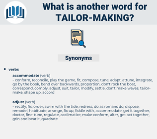 tailor making, synonym tailor making, another word for tailor making, words like tailor making, thesaurus tailor making