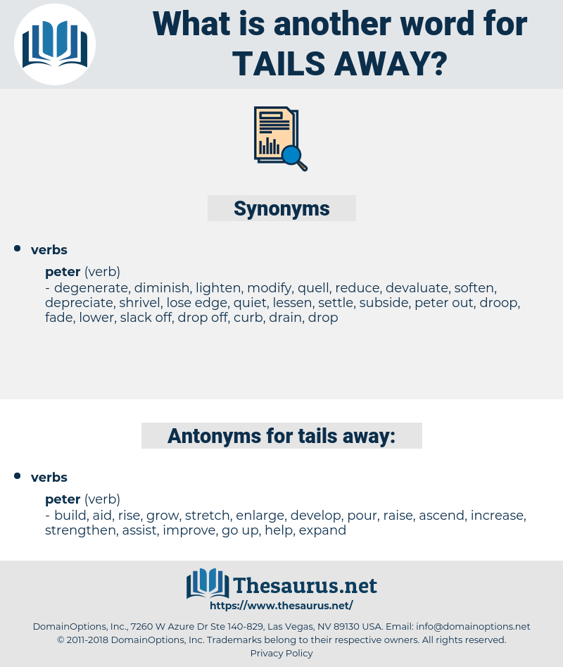 tails away, synonym tails away, another word for tails away, words like tails away, thesaurus tails away