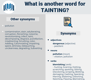 Tainting, synonym Tainting, another word for Tainting, words like Tainting, thesaurus Tainting