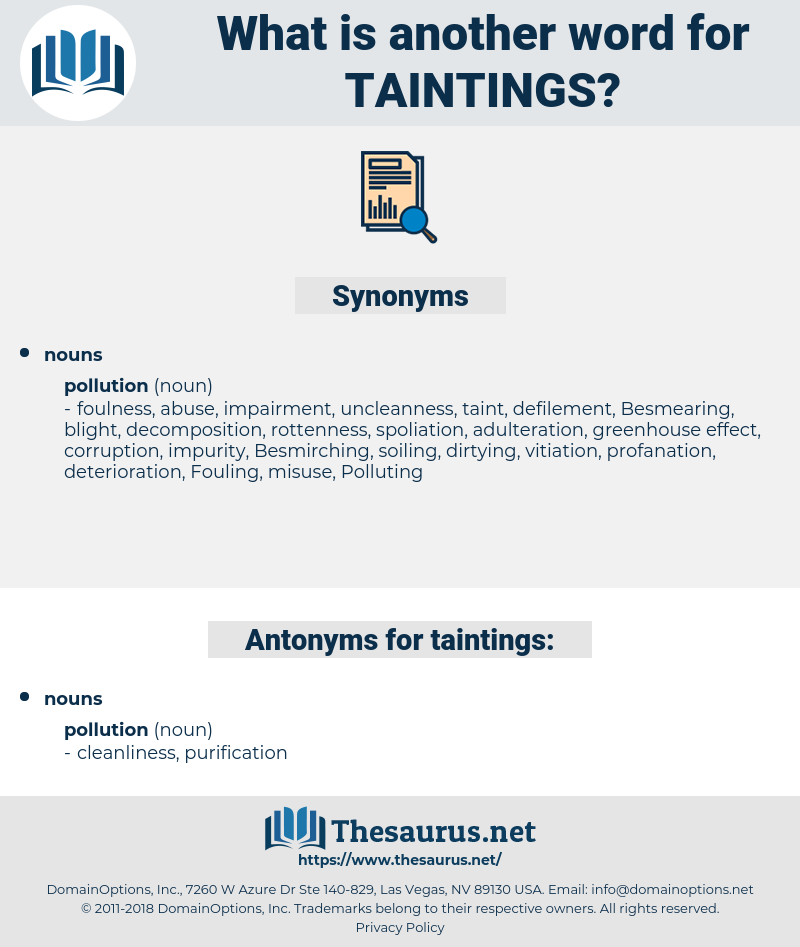 taintings, synonym taintings, another word for taintings, words like taintings, thesaurus taintings