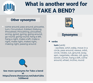 take a bend, synonym take a bend, another word for take a bend, words like take a bend, thesaurus take a bend