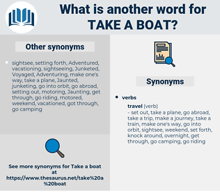 take a boat, synonym take a boat, another word for take a boat, words like take a boat, thesaurus take a boat