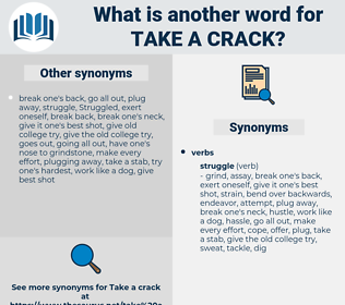 take a crack, synonym take a crack, another word for take a crack, words like take a crack, thesaurus take a crack