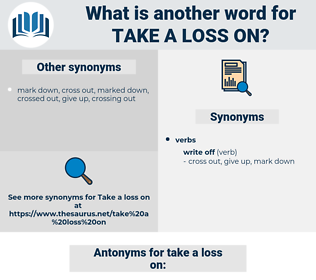 take a loss on, synonym take a loss on, another word for take a loss on, words like take a loss on, thesaurus take a loss on