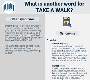 take a walk, synonym take a walk, another word for take a walk, words like take a walk, thesaurus take a walk