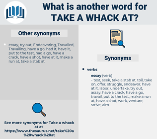 take a whack at, synonym take a whack at, another word for take a whack at, words like take a whack at, thesaurus take a whack at