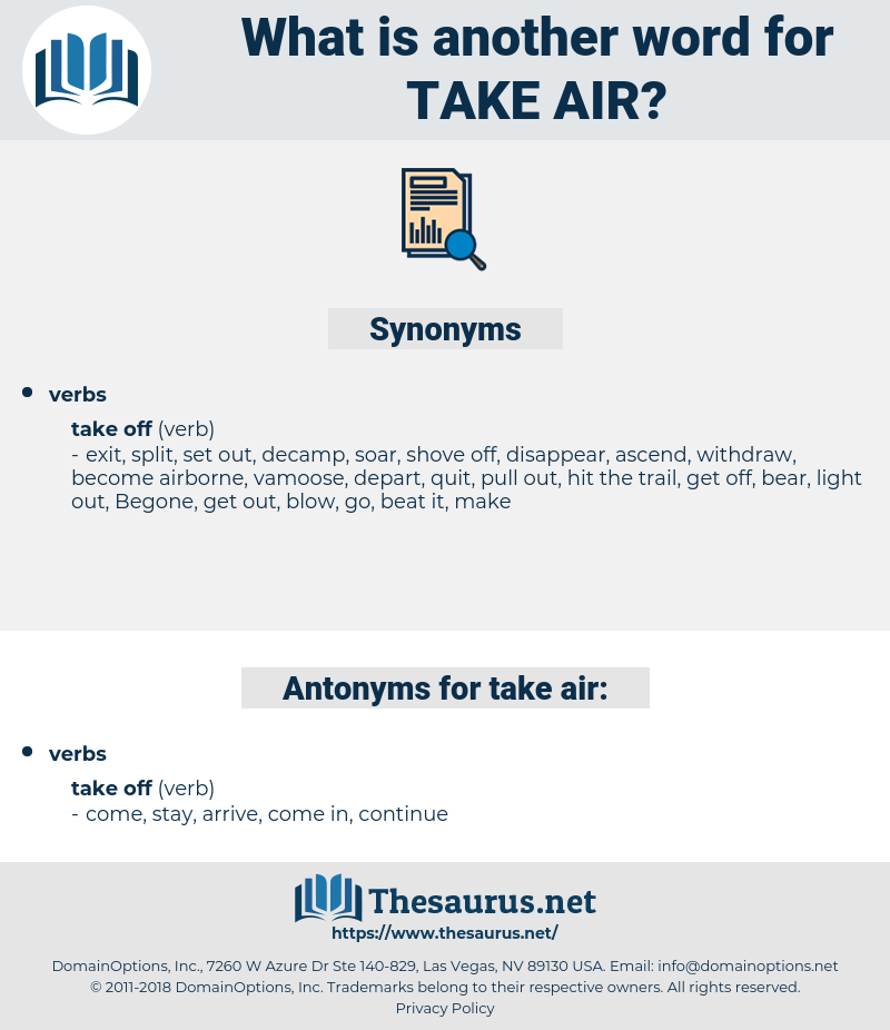 take air, synonym take air, another word for take air, words like take air, thesaurus take air
