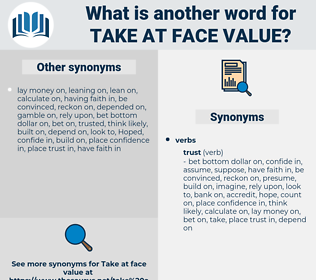 take at face value, synonym take at face value, another word for take at face value, words like take at face value, thesaurus take at face value
