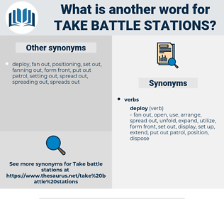 take battle stations, synonym take battle stations, another word for take battle stations, words like take battle stations, thesaurus take battle stations