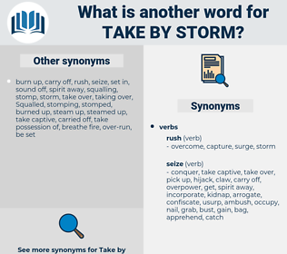 take by storm, synonym take by storm, another word for take by storm, words like take by storm, thesaurus take by storm