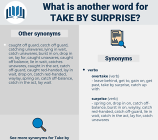 take by surprise, synonym take by surprise, another word for take by surprise, words like take by surprise, thesaurus take by surprise