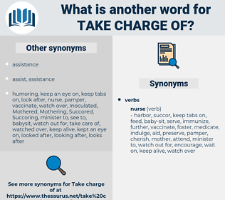 take charge (of), synonym take charge (of), another word for take charge (of), words like take charge (of), thesaurus take charge (of)