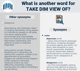 take dim view of, synonym take dim view of, another word for take dim view of, words like take dim view of, thesaurus take dim view of