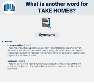 take homes, synonym take homes, another word for take homes, words like take homes, thesaurus take homes