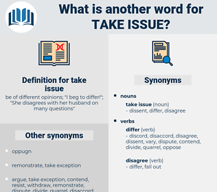 take issue, synonym take issue, another word for take issue, words like take issue, thesaurus take issue