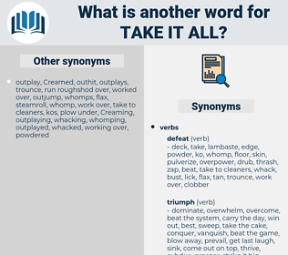 take it all, synonym take it all, another word for take it all, words like take it all, thesaurus take it all