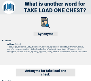 take load one chest, synonym take load one chest, another word for take load one chest, words like take load one chest, thesaurus take load one chest