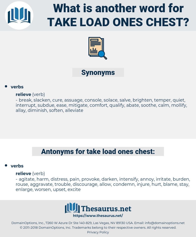 take load ones chest, synonym take load ones chest, another word for take load ones chest, words like take load ones chest, thesaurus take load ones chest