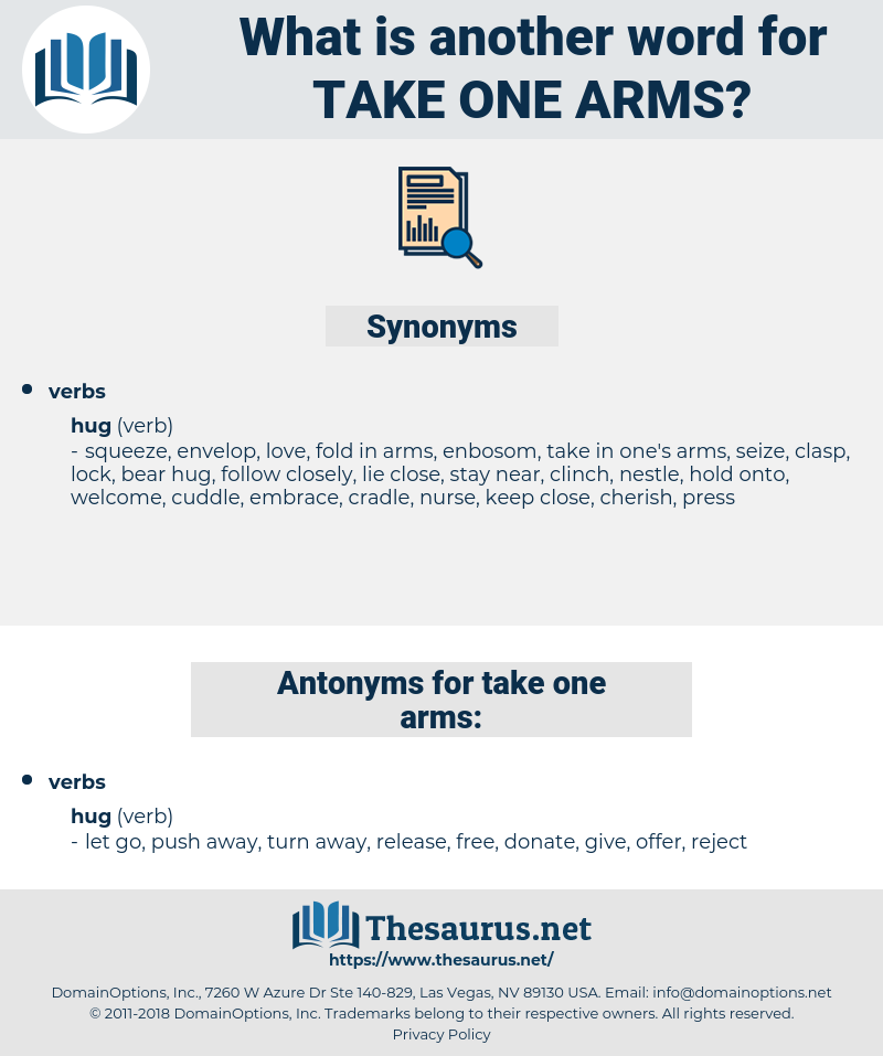 take one arms, synonym take one arms, another word for take one arms, words like take one arms, thesaurus take one arms
