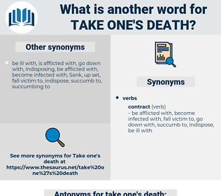 take one's death, synonym take one's death, another word for take one's death, words like take one's death, thesaurus take one's death