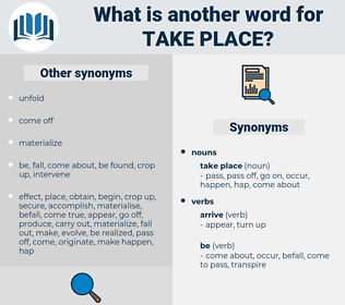 take place, synonym take place, another word for take place, words like take place, thesaurus take place
