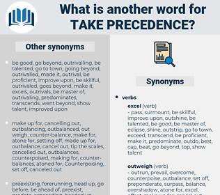 take precedence, synonym take precedence, another word for take precedence, words like take precedence, thesaurus take precedence