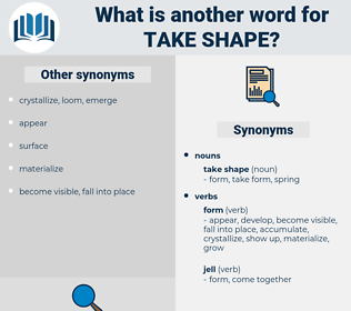 take shape, synonym take shape, another word for take shape, words like take shape, thesaurus take shape