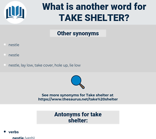 take shelter, synonym take shelter, another word for take shelter, words like take shelter, thesaurus take shelter