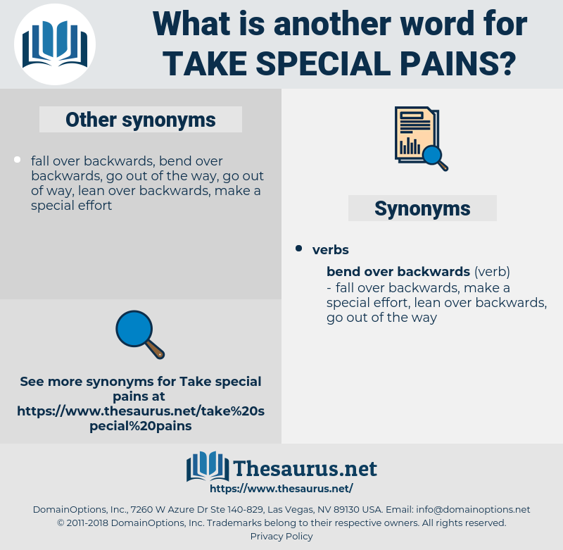 take special pains, synonym take special pains, another word for take special pains, words like take special pains, thesaurus take special pains
