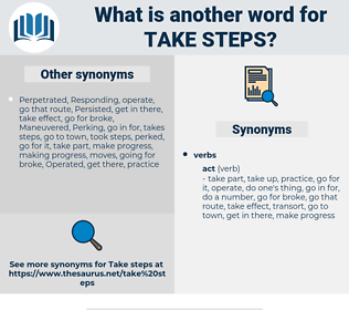 take steps, synonym take steps, another word for take steps, words like take steps, thesaurus take steps