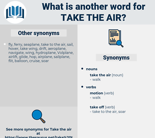 take the air, synonym take the air, another word for take the air, words like take the air, thesaurus take the air