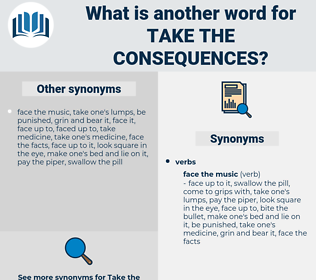 take the consequences, synonym take the consequences, another word for take the consequences, words like take the consequences, thesaurus take the consequences