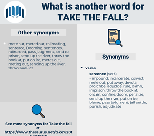 take the fall, synonym take the fall, another word for take the fall, words like take the fall, thesaurus take the fall