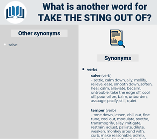take the sting out of, synonym take the sting out of, another word for take the sting out of, words like take the sting out of, thesaurus take the sting out of