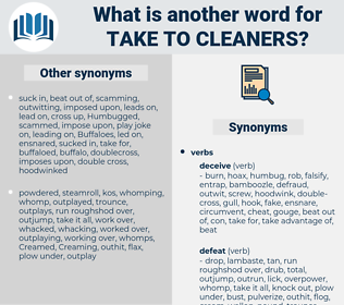 take to cleaners, synonym take to cleaners, another word for take to cleaners, words like take to cleaners, thesaurus take to cleaners