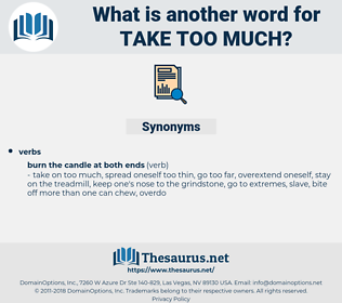 take too much, synonym take too much, another word for take too much, words like take too much, thesaurus take too much