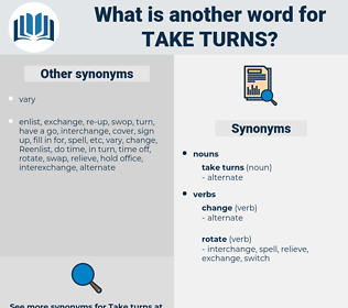 take turns, synonym take turns, another word for take turns, words like take turns, thesaurus take turns
