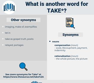 take, synonym take, another word for take, words like take, thesaurus take