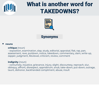 takedowns, synonym takedowns, another word for takedowns, words like takedowns, thesaurus takedowns