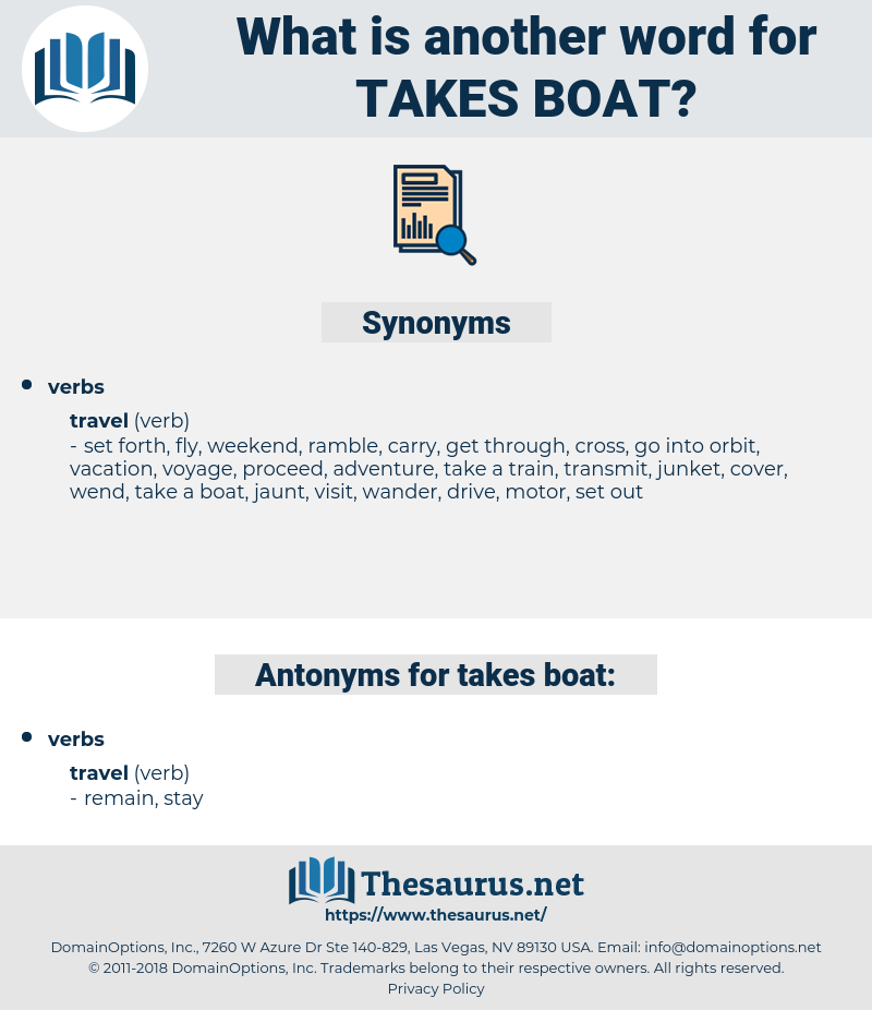 takes boat, synonym takes boat, another word for takes boat, words like takes boat, thesaurus takes boat